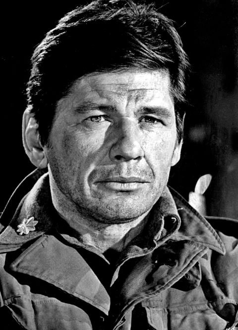 An old photo of Charles Bronson.