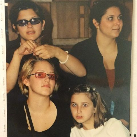 An old photo of Emily Frlekin and her sisters.