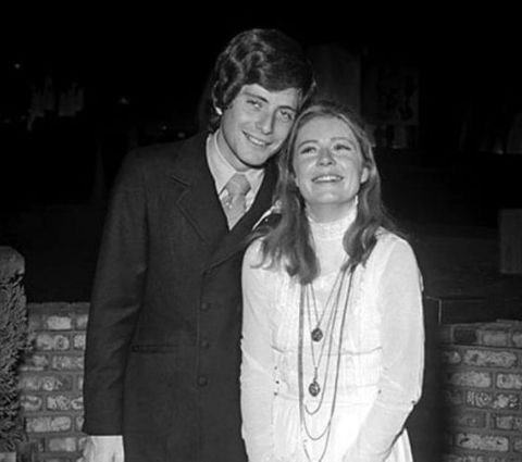 An old photo of Patty Duke and Michael Tell.