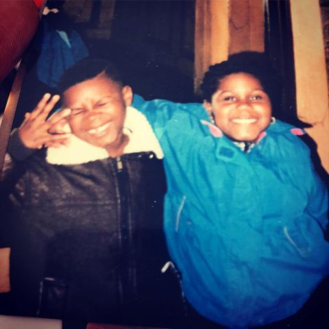 Gabby and Ahmed Sidibe during childhood.