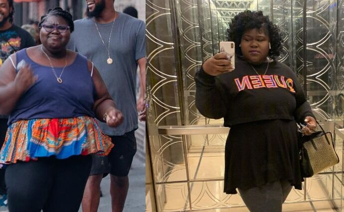 Gabourey Sidibe's Weight Loss before and after.
