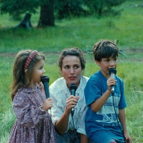 Andie MacDowell with Her Kids.