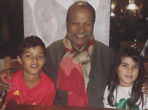 Billy Dee Williams with His Grandkids.