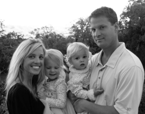 Lane and Layla with their daughters.
