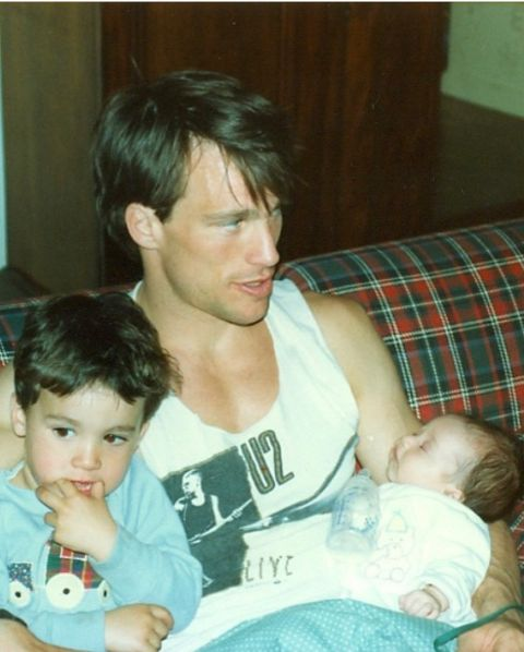 Paul with his son and daughter.