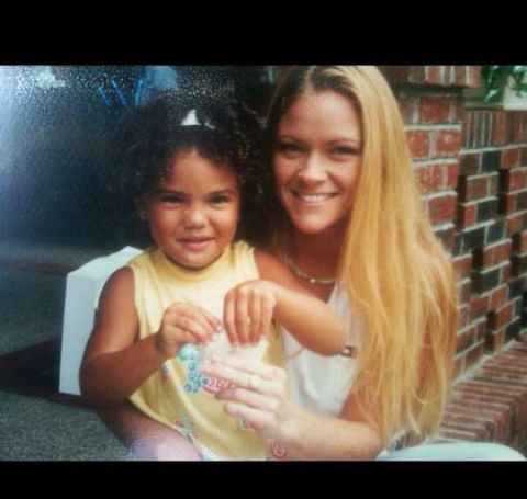 Libby Offutt with her first daughter, Sydney Nikale Moss.